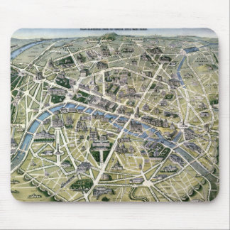 Map of Paris during the period of the Grands Mouse Pad