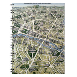 Map of Paris during the period of the Grands Notebook