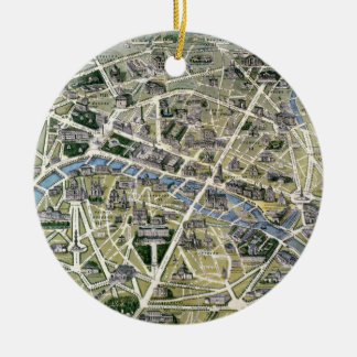 Map of Paris during the period of the Grands Christmas Ornaments