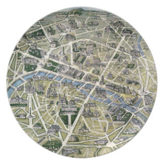 Map of Paris during the period of the Grands Dinner Plates