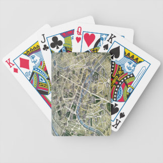 Map of Paris during the period of the Grands Bicycle Poker Cards