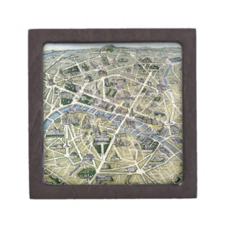 Map of Paris during the period of the Grands Premium Trinket Box