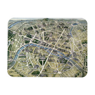 Map of Paris during the period of the Grands Flexible Magnet