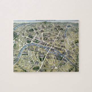 Map of Paris during the period of the Grands Jigsaw Puzzles