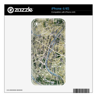Map of Paris during the period of the Grands Decal For iPhone 4S