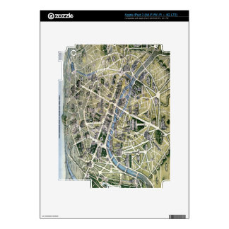 Map of Paris during the period of the Grands Skin For iPad 3