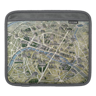 Map of Paris during the period of the Grands Sleeve For iPads