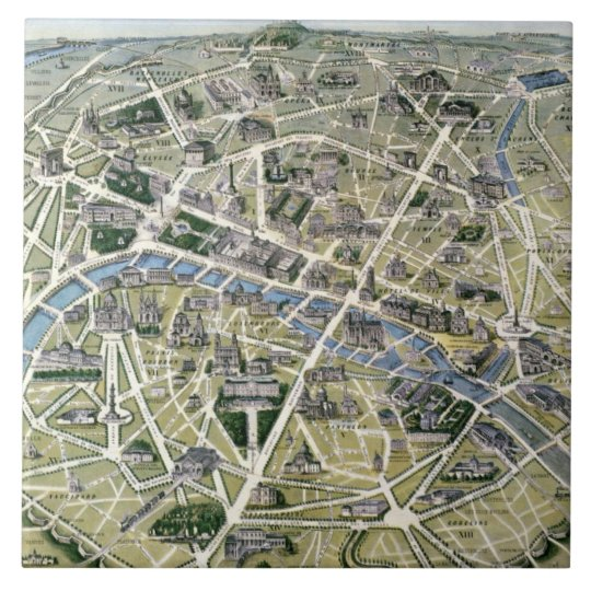 Map of Paris during the period of the Grands Tile