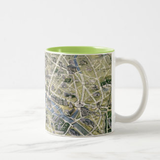 Map of Paris during the period of the Grands Two-Tone Coffee Mug