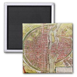 Map of Paris from 'Civitates orbis terrarrum' Magnet