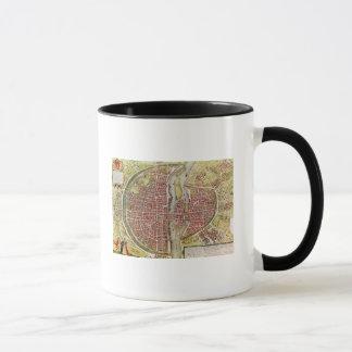 Map of Paris from 'Civitates orbis terrarrum' Mug