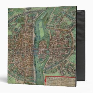Map of Paris, from 'Civitates Orbis Terrarum' by G Binder