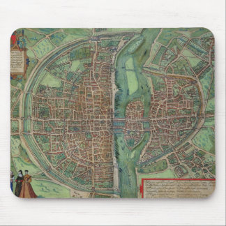 Map of Paris, from 'Civitates Orbis Terrarum' by G Mouse Pad