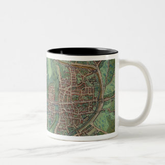 Map of Paris, from 'Civitates Orbis Terrarum' by G Two-Tone Coffee Mug