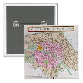 Map of Paris, June 1800 Pinback Button