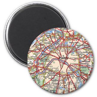 Map of Paris Refrigerator Magnets