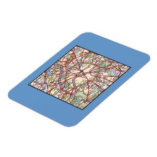 Map of Paris Magnets