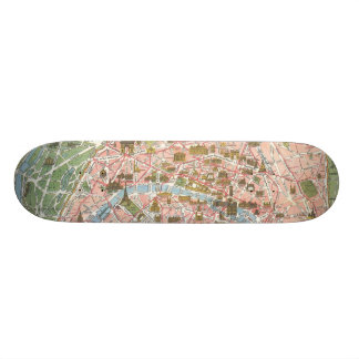 Map of Paris Skateboard Mini