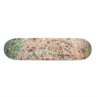 Map of Paris Skateboard Mini