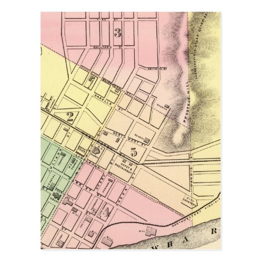 Map of Parkersburg, West Virginia Post Card