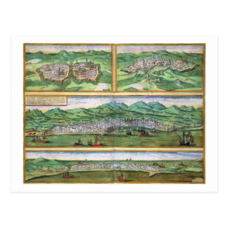 Map of Parma, Siena, Palermo, and Drepanum, from ' Post Card