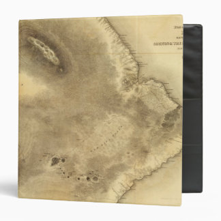 Map of Part of the Island of Hawaii 3 Ring Binder