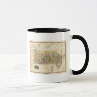 Map of Pennsylvania and New Jersey Mug