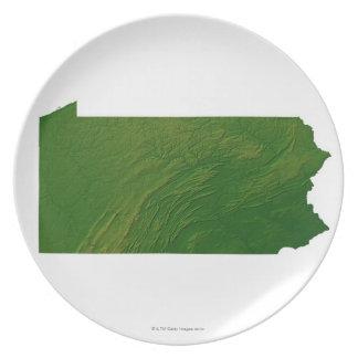 Map of Pennsylvania Dinner Plates