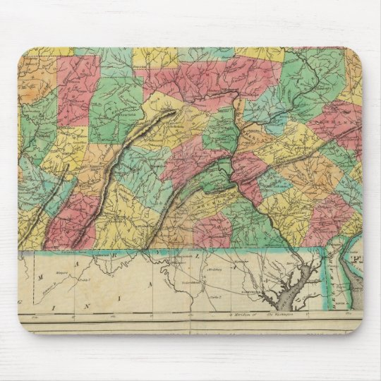 Map Of Pennsylvania Mouse Pad