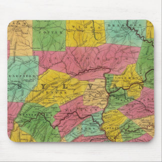Map of Pennsylvania, New Jersey, and Delaware Mouse Pad