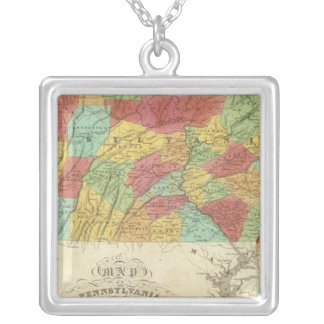Map Of Pennsylvania New Jersey And Delaware Pendants