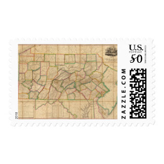 Map of Pennsylvania Postage