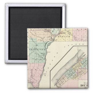 Map of Pepin County and Village of Durand Fridge Magnets