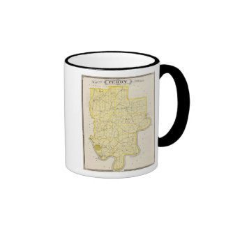 Map of Perry County Coffee Mugs