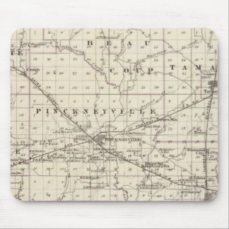 Map of Perry County, Nashville and Carmi Mouse Pad