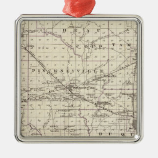Map of Perry County Nashville and Carmi Christmas Ornament
