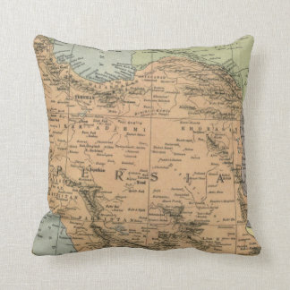 Map of Persia Pre 1917 Throw Pillow