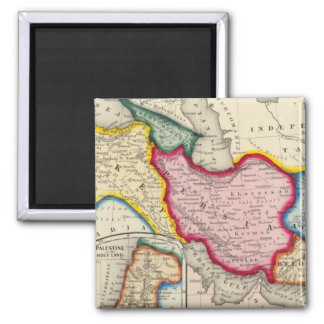 Map of Persia, Turkey In Asia Afghanistan Fridge Magnet