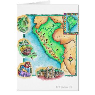 Map of Peru Card