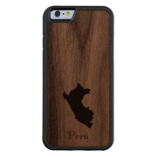 Map of Peru: Classic Design Carved® Walnut iPhone 6 Bumper Case