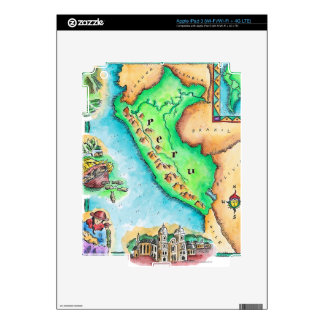 Map of Peru Decal For iPad 3