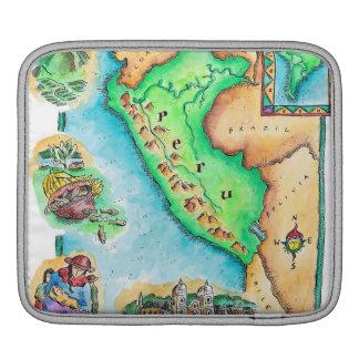 Map of Peru iPad Sleeve