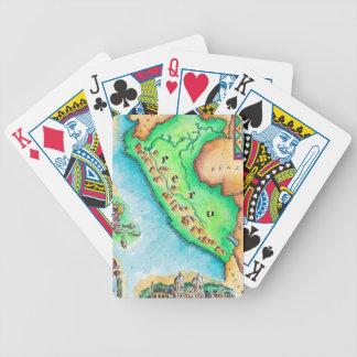 Map of Peru Poker Cards