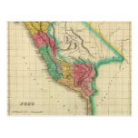 Map Of Peru Post Cards
