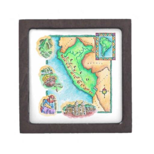 Map of Peru Premium Gift Boxes