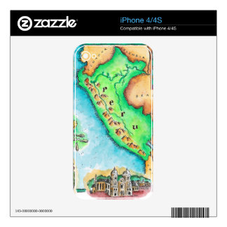 Map of Peru Skin For The iPhone 4S