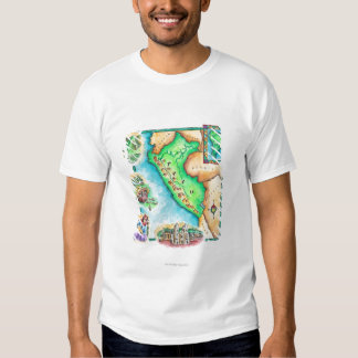 Map of Peru Tee Shirt