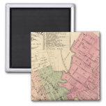 Map of Petaluma City 1877 2 Inch Square Magnet
