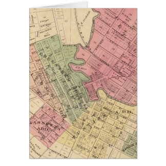 Map of Petaluma City 1877 Card