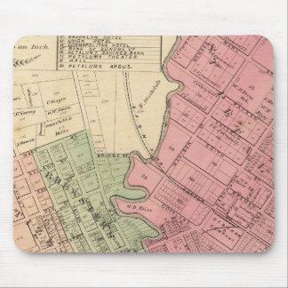 Map of Petaluma City 1877 Mouse Pad